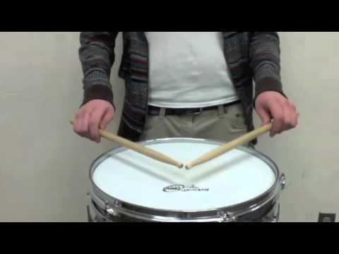 Instructional video on how to perform a paradiddle.
