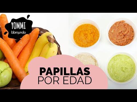 Recetas de PAPILLAS fáciles, deliciosas y nutritivas para bebés por edad - 6, 8 y 12 meses