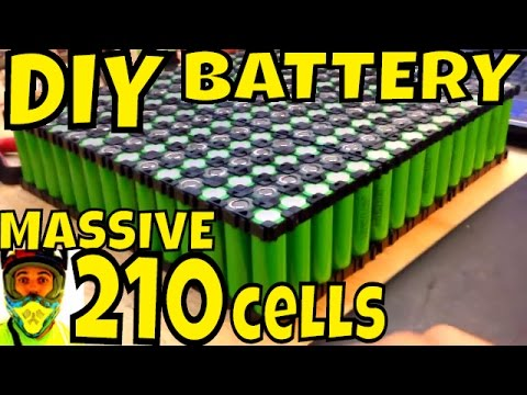 DIY Battery: 210 cells 14s 15p 52.5Ah = 2.65kWh • 18650 cells