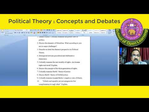 POLITICAL THEORY: CONCEPT AND DEBATES By - BISHNU