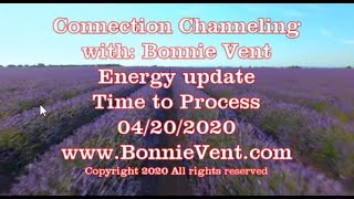 Energy Update - Bonnie Vent Channeling - Time to Process