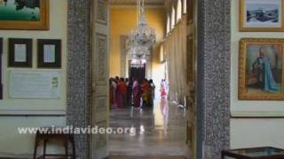 Chowmahalla Palace's interior at Hyderabad