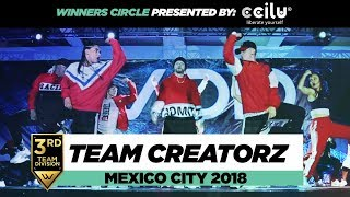Team Creatorz | 3rd Place Team Division |Winners Circle | World of Dance Mexico City 2018 | #WODMX18