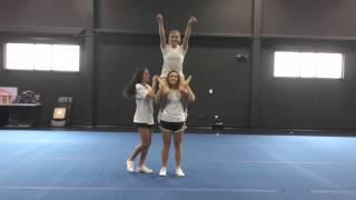 Basic Cheerleading Stunt Progression: Shoulder Sit