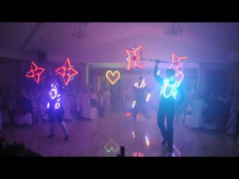Світлодіодне шоу FIRE DANCE на весілля, відео 2