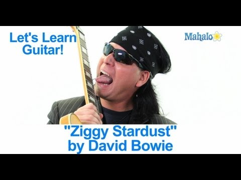 """Guitar guitar chords ziggy stardust : How to Play """"Heroes"""" by David Bowie on Guitar (Practice Cover)"""
