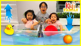 Sink or Float Challenge! Easy DIY Science Experiments for kids