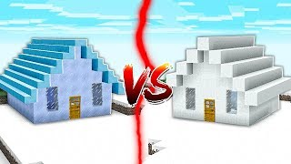 ICE HOUSE VS SNOW HOUSE IN MINECRAFT!!