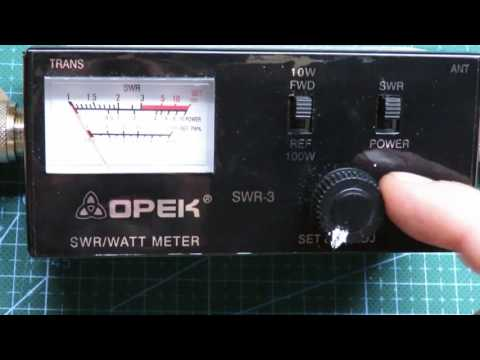 #0088 Medidor de ROE y de potencia OPEK SWR-3 (funcionamiento)