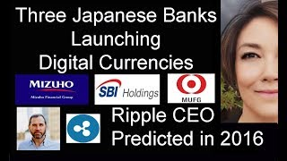 Three Japanese Banks Launching Digital Currencies, Japan