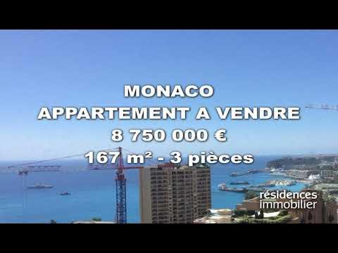 MONACO - APPARTEMENT A VENDRE - 8 750 000 € - 167 m² - 3 pièces