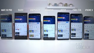 Battery Test: Razer Phone vs Apple iPhone X vs Samsung Galaxy Note8 vs Google Pixel 2 XL vs Huawei Mate 10 Pro