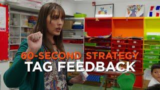 60-Second Strategy: TAG Feedback