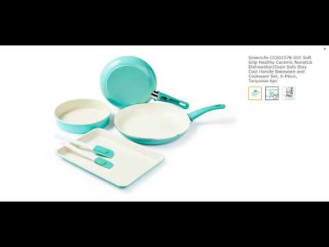 GreenLife CC001578-001 Soft Grip Healthy Ceramic Nonstick Dishwashe