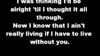 Living without you lyrics