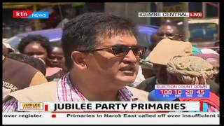 Voters who do not have Jubilee smart cards are being chased away from polling stations in Meru