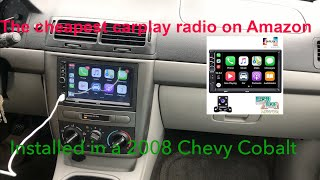 Cheapest Carplay Radio on Amazon Installed in a Chevy Cobalt
