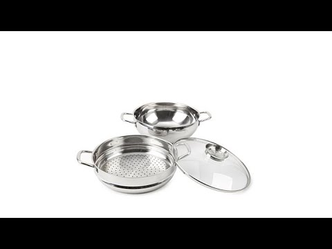 "Wolfgang Puck 12"" Chef's Pot w/Steamer Insert and Lid"