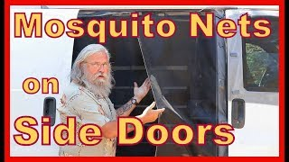 Mosquito Netting on the Side & Back Door