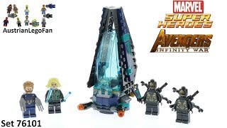 Lego Super Heroes 76101 Outrider Dropship Attack - Avengers Infinity War - Lego Speed Build Review