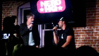 Scott Bakula and Zachary Levi singing Godspell