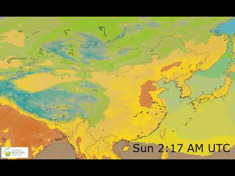Eastern Asia Surface Temperature Weather Forecast HD: 24 May 2019 [Updated at 0000 hours UTC]