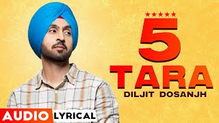 5 Taara (Audio Lyrical) | Diljit Dosanjh | Latest Punjabi Songs 2020 | Speed Records
