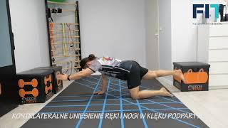 Kontrlateralne uniesienie ręki i nogi w klęku podpartym – CC011