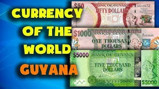 Currency of the world - Guyana. Guyanese dollar. Exchange rates Guyana. Guyanese banknotes