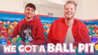 WE GOT A BALL PIT!
