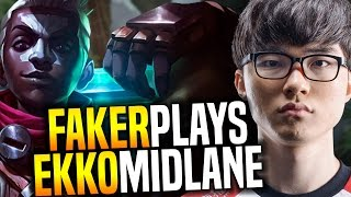 Faker Wants to Play Ekko Mid! - SKT T1 Faker SoloQ Playing Ekko Midlane | SKT T1 Replays