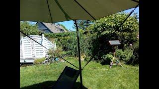 Windsicherung für Ampelschirm
