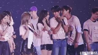 SHINee Minho and SNSD Yoona | MinYoon @ SMTown Live Tours Part 1