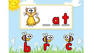 Busy Bees Interactive PowerPoint Game -- Beginning Sounds CVC Words Practice