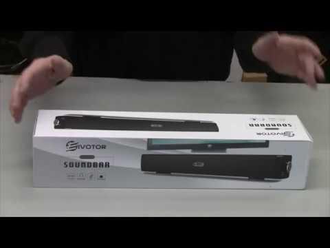 "Product Review: EIVOTOR 18"" USB Powered Mini Soundbar Speaker For Laptops Or Desktop Computers"