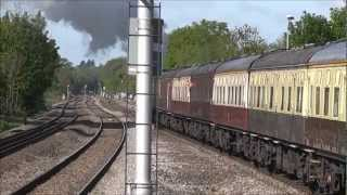 preview picture of video '60163 Tornado on the Cathedrals Express at Twyford and Didcot 12/05/2012'