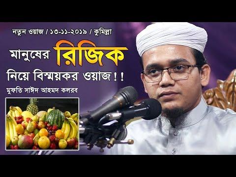 New Waz 2019 | রিজিক | মুফতি সাঈদ আহমদ কলরব | Mufti Sayed Ahmad Kalarab | Waj | Was | Bangla Waz