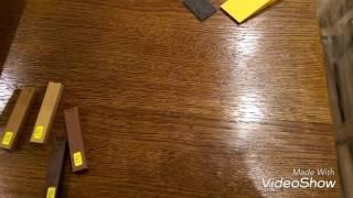 Твердые воски Konig. Реставрация стола из дуба