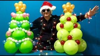 Christmas Tree Balloon Decoration Tutorial!