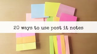 20 ways to use sticky notes! || himani shah