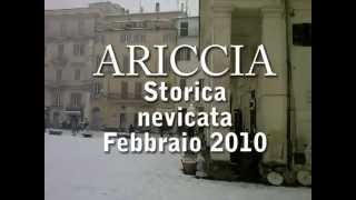preview picture of video 'Ariccia TV - Storica nevicata febbraio 2010.f4v'