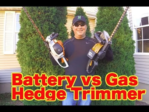 BATTERY vs GAS – HEDGE TRIMMER COMPARISON