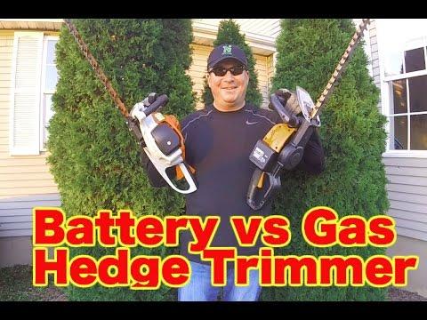 BATTERY vs GAS – HEDGE TRIMMER COMPARISON