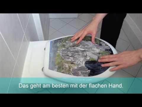 WC-Sitz Aufkleber: Montagevideo