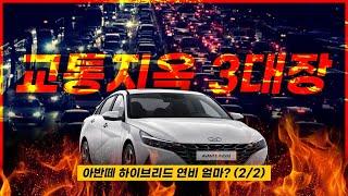 [카랩] 서울 교통지옥 3대장, 아반떼 하이브리드 연비는? (2/2)