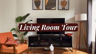 MY LIVING ROOM TOUR (FINALLY Lol) Mid-Century Modern Afro Boho Decor