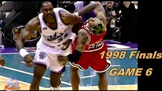 Karl Malone vs Dennis Rodman 1998 Finals Game 6! Wrestling Game & 6th Championship!