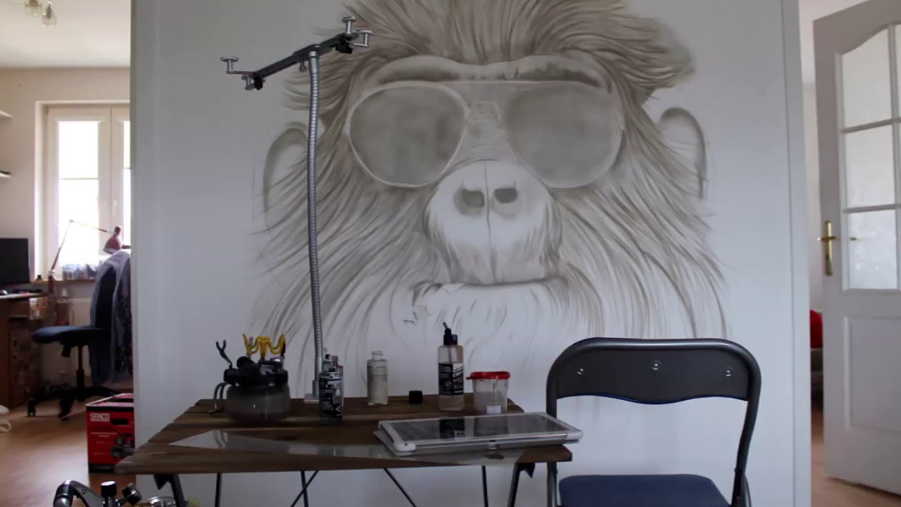 mural painting monkey by galkadesign