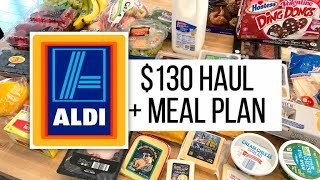 $130 🛒Aldi Grocery Haul + Meal Plan // February 15, 2019