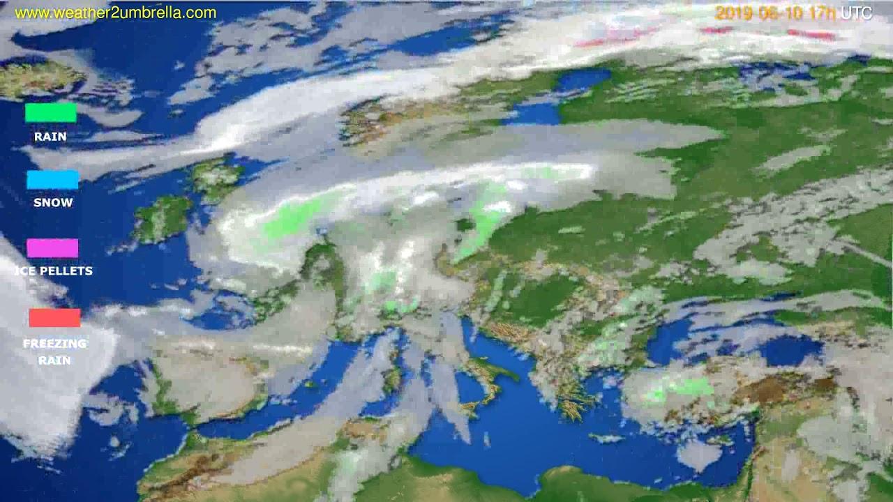 Precipitation forecast Europe // modelrun: 00h UTC 2019-06-09
